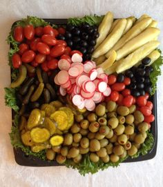 Pickle, Olive, marinated veggie tray | Fruit/Veggie Trays | Pinterest | Veggie Tray, Trays and Veggies