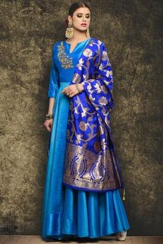 Anarkali Suit: Buy Latest Designer Anarkali Suits for Women Online Silk Anarkali Suits, Anarkali Dress, Lehenga Blouse, Silk Dupatta, Saree, Indian Attire, Indian Ethnic Wear, Ethnic Style, Punjabi Fashion