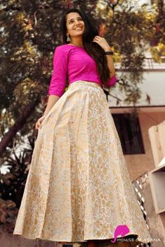 Designer Party Wear Dresses, Indian Designer Outfits, Designer Wear, Saree Dress, Dress Skirt, Casual Indian Fashion, Trendy Fashion, Western Wear Dresses, Kids Blouse Designs