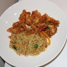 Amanda's Home Kitchen Sweet chilli chicken and veg noodles