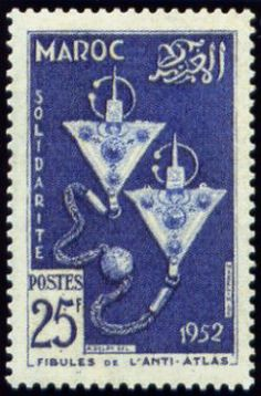 Fibulae of the Anti-Atlas , (Works for the benefit of French-Moroccan Solidarity) . Moroccan Art, Postage Stamp Art, African Countries, Marrakech, Stamp Collecting, North Africa, Clip Art, Retro, Benefit