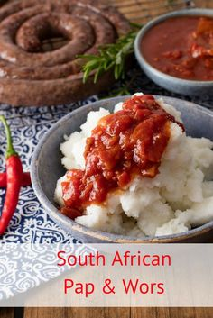 Beating the budget has never tasted so good. All you need is pap, boerewors, tomato & onion gravy, and you're done. No wonder it's a South African favourite. South African Braai, South African Dishes, South African Recipes, Ethnic Recipes, Africa Recipes, Indian Recipes, Braai Recipes, Cooking Recipes, Healthy Recipes