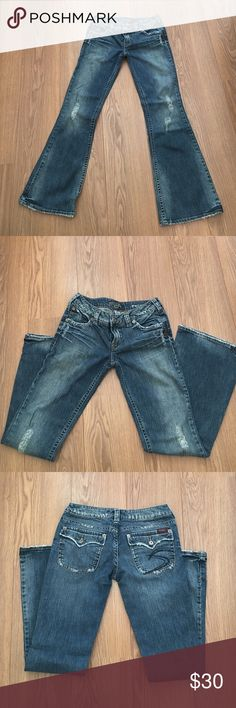 Silver Prospector jeans Worn look on these great Silver brand jeans.  Length 33. Silver Jeans Jeans Boot Cut
