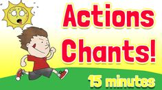 """Action Verbs Chants a I love this song!  Great to use after mini lessons on verbs.  This is a """"I say, you say"""" song that uses lots of action verbs.  The video shows the action and the word.  After you go through the song one time, it repeats...faster!"""