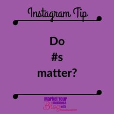 Instagram Tip: Hashtags MATTER!!! I hope after this weekly series of hashtags in the 6 Steps to Instagram Success you see the power of hashtags.  Even if you dont (yet) Instagram users DO search hashtags. Its a large part of the IG culture. Think of them as key words that you would enter on Pinterest. Or look at it as an index. You can search #officeinspo if youre looking for chic office setups or #birthdaycake for pics that will make you drool.  Your ideal customers search hashtags too…