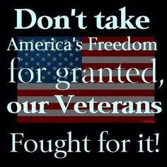 Don't take freedom for granted