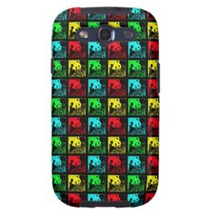 "Samsung Galaxy S3 Case Pop Art Giant Pandas - This colorful Pop Art case for the Samsung Galaxy S3, in our ""Giant Pandas"" design, is sure to be a conversation piece! We also have matching gifts, greeting cards, and wrapping paper at www.zazzle.com/SocolikCardShop*. A wonderful gift for people who love pandas. Original photograph by Marcia Socolik, taken in Chengdu, China. All Rights Reserved © 2013 Alan & Marcia Socolik.  #SamsungGalaxyS3 #GiantPandas #ILovePandas #SaveThePandas #PopArt…"