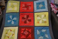 rainbow inspired quilt by one of our ladies!