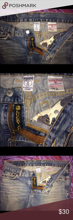VINTAGE 🍀Lucky Brand🍀American Made🇺🇸 Sz 6👖 Lucky brand🍀 American made 🇺🇸 Dungarees size 6 👖 Lucky Brand Jeans Boot Cut