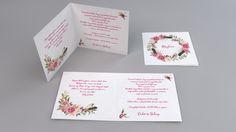 Vintage esküvői meghívó, virágos esküvői  meghívó - vintage flowers wedding invitations
