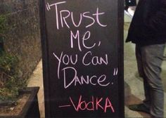 20 Hilarious Chalkboard Bar Signs