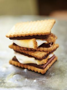 Leclerc Celebration Cookies S'mores - already have the  milk chocolate attached to the cookie part