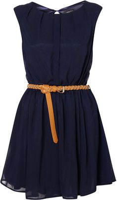 Topshop Open Back Dress By Rare** in Blue (navy blue) - Lyst