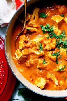 Quick Tofu Cauliflower Korma | YummyBeet.com