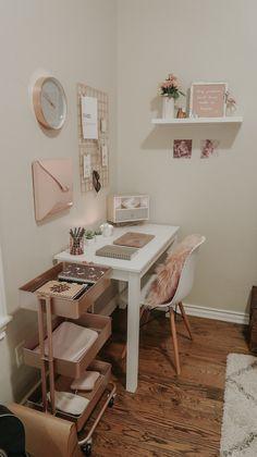 Room Design Bedroom, Room Ideas Bedroom, Home Room Design, Home Decor Bedroom, Study Room Decor, Cute Room Decor, Small Room Design, Minimalist Room, Aesthetic Room Decor