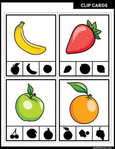Preschool Prep, Preschool Learning Activities, Free Preschool, Toddler Learning, Preschool Worksheets, Preschool Activities, Printable Worksheets, Free Printable, Fruits For Kids