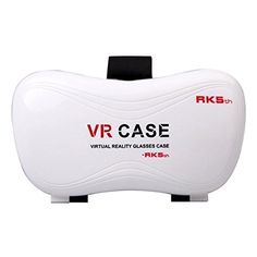 3D VR Glasses  VR Case Virtual Reality Headset 3D VR Glasses MoviesGames with Remote Controller for iPhone 6s6 plus65s5c5 Samsung Galaxy s5s6note4note5 and Other 356 Cellphones White ** Click on the image for additional details.Note:It is affiliate link to Amazon.