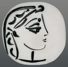 Depiction of Picasso's second wife Jacqueline