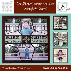 Snowflake Template designed by Lea France. This is the stencil that was used for the photo collages on this board. #Photos #Collage #Designs #Stencils #PhotoCollage