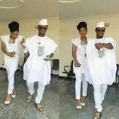 Top 17 Yoruba Demon Wears For First Class African Couples - WearitAfrica Couples African Outfits, Couple Outfits, African Attire, African Wear, African Women, African Dress, Emo Outfits, African Style, Batman Outfits