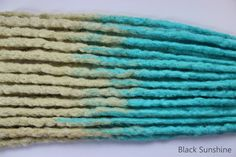 Blonde to Blue  DE Crochet Synthetic Dreads  by blacksunshineiow, £24.99