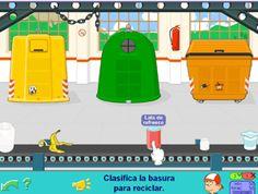 Juego de clasificar basura para Primer Ciclo de Primaria #reciclaje #medio #ambiente #planeta