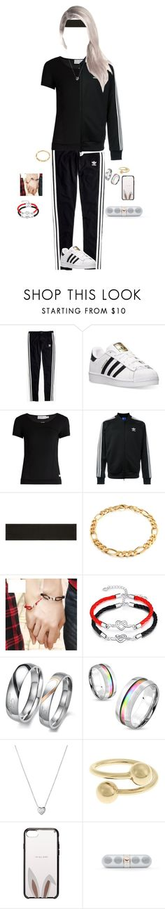 """""""Dancing with Hyunki~Luna"""" by luna-from-dna ❤ liked on Polyvore featuring Madewell, adidas, adidas Originals, Victoria Sport, Bling Jewelry, West Coast Jewelry, Links of London, J.W. Anderson, Kate Spade and Beats by Dr. Dre"""