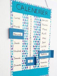 Un calendrier qu'on peut utiliser plusieurs années de suite sans en changer ? Diy For Kids, Crafts For Kids, Diy Organisation, Classroom Decor, Activities For Kids, Diy And Crafts, Easy Diy, Diy Projects, Teaching