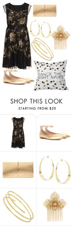 """""""plus size dance"""" by aleger-1 ❤ liked on Polyvore featuring navabi, Gianvito Rossi, Nina Ricci, Lana, Miriam Haskell and DENY Designs"""