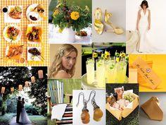 Summer Soiree Yellow Wedding Inspiration Board