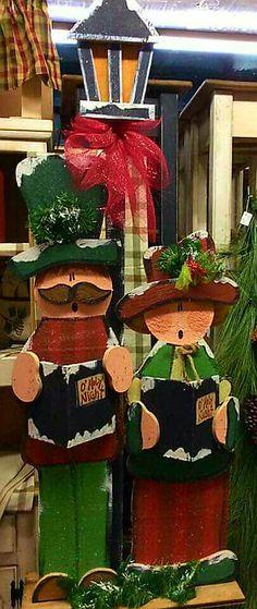 Big Tall Christmas Carolers. Wood craft
