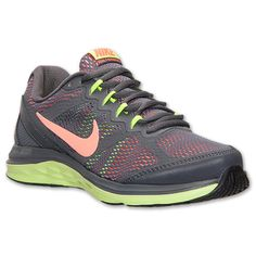 Women's Nike Dual Fusion Run 3 Running Shoes | Dark Grey/Bright Mango/Metallic Silver