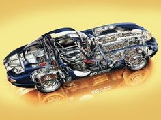 1962 Jaguar E-Type Low-Drag Coupe (Series I) - Illustration credited to Auto Passion