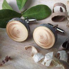 $15.75  Wooden cufflinks