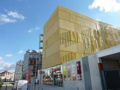 Bardage en composite - tubes résine verre/polyester - Résidence Les Souffleurs à Bordeaux - Solutions Composites