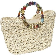 Cappelli Maize Straw Bag With Beaded Handle $46.40