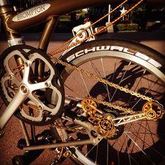 NOV brompton chain tensioner and Tipart workshop wheels