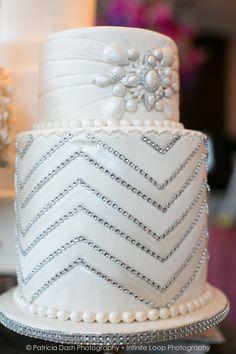 Beautiful cake at #WeddingSalon