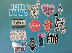 band addict stickers / laptop sticker / iphone sticker /music stickers / fall…
