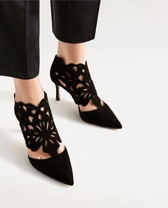 WRAPAROUND LEATHER HIGH HEEL SHOES-View all-SHOES-WOMAN | ZARA United States