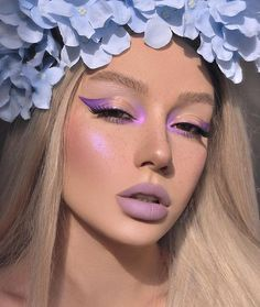 aesthetic makeup morado Which kind of make up do you like most You can try it on that big day. Glam Makeup, Cute Makeup, Pretty Makeup, Makeup Art, Hair Makeup, Flawless Makeup, Beauty Makeup, Awesome Makeup, Dramatic Makeup