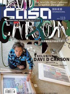 Casa International magazine issue 113. Beijing. Cover design by David Carson