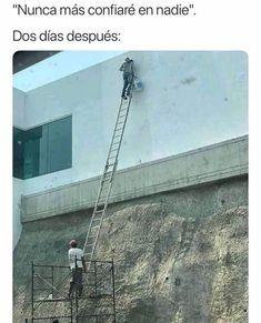 Same Job, Different Day – 20 Pics Construction Humor, Dankest Memes, Funny Memes, Funny Shit, Cool Pictures, Funny Pictures, Funny Pics, Spanish Memes, Good Jokes