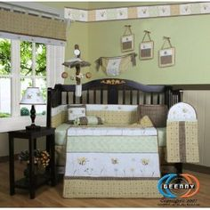 Boutique Brand New GEENNY Bumble Bee 13PCS CRIB BEDDING SET