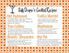 Mad Men Cocktail Recipes by When I Was Your Age | Scribd