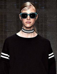 Trendy #Jewelry style for SS 2015:Choker necklace. DKNY Spring Summer 2015. #Spring2015 #SS15