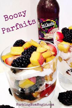 Boozy Parfaits! The perfect sweet treat as the weather warms up! Refreshing with a little kick and so easy to make!