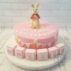 Browse our Christening cakes - plus Baptism and Holy Communion cake designs, we can create your perfect cake in Tamworth & West Midlands. Baby Girl Shower Themes, Baby Shower Table, Girl Themes, Baby Shower Cupcakes, Shower Cakes, Baby Boy Shower, Holy Communion Cakes, Cakes Plus, Cake Gallery