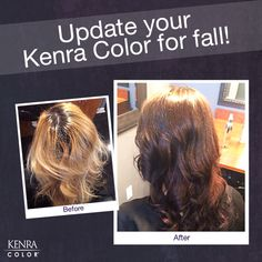 Stylists, filling the hair with the Kenra Color® Pre-Pigments will ensure longevity of corrective color and on-tone color fading!    Formula: Kenra Color® Copper Pre-Pigment mixed 1:1 with tap water; processed for 10 minutes; towel blotted excess color from hair with paper towels (do not rinse). Kenra Color Permanent 3/4 5N + 1/4 5B equal parts with 10 volume, processed for 30 minutes.