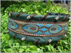 KACHINA - Zugstopp Hundehalsband von °Solo-Con-Perro° http://de.dawanda.com/shop/Solo-Con-Perro